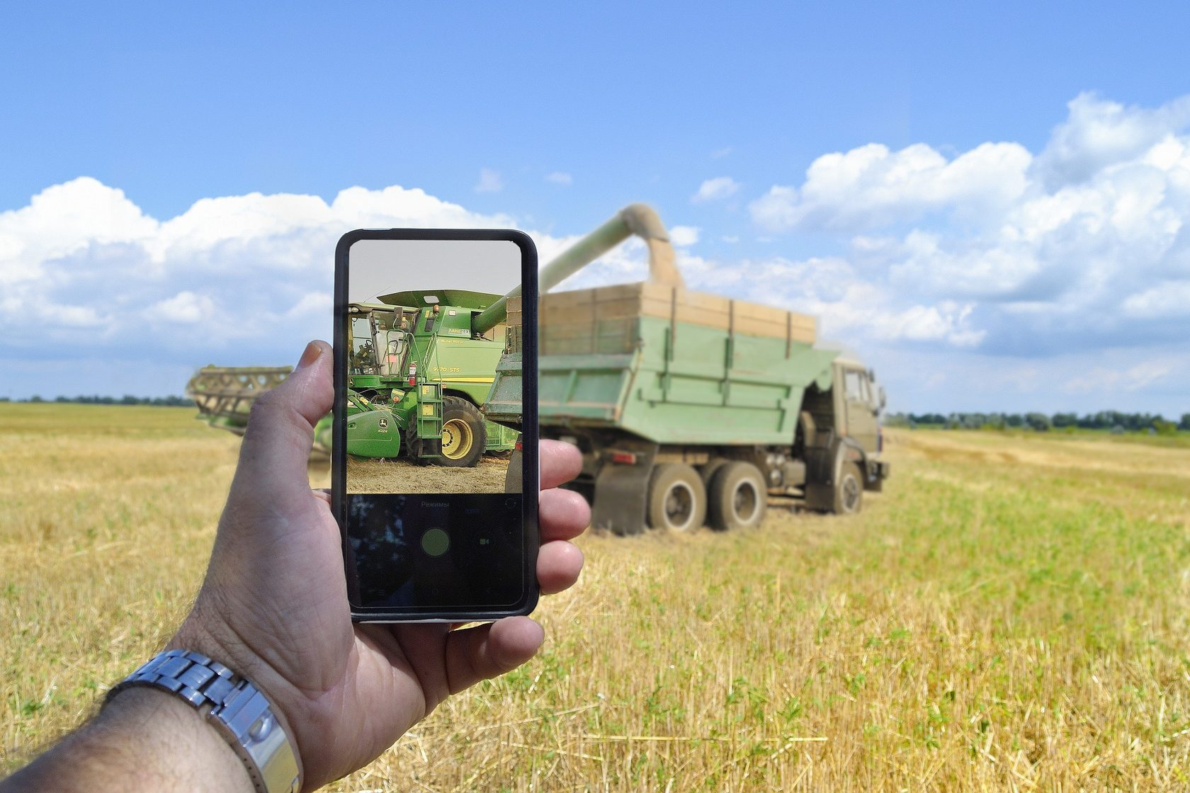 GPS monitoring in agriculture.
